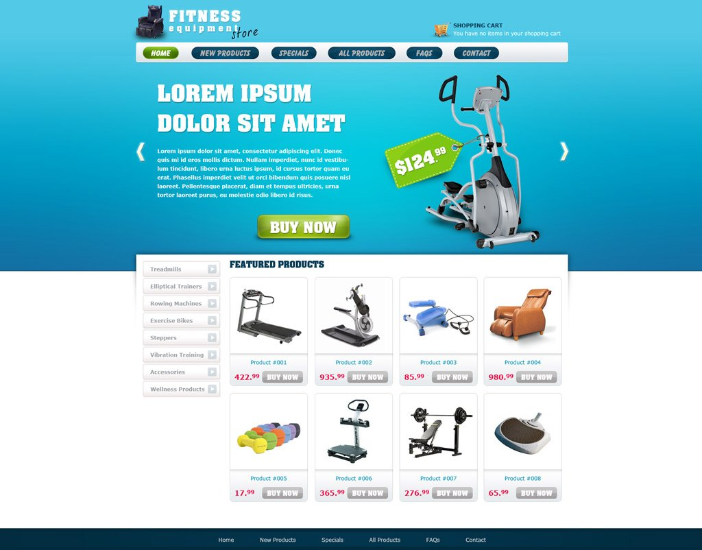 category ecommerce templates
