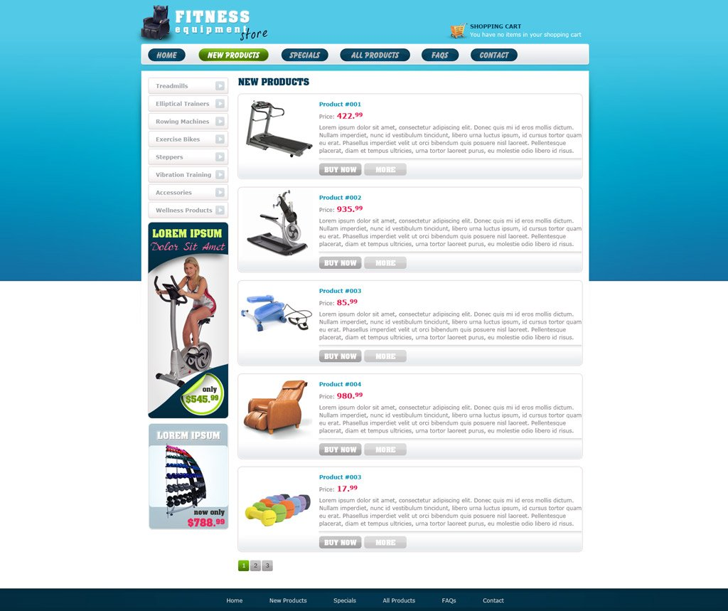 Free eCommerce Website Template | Free Online Store Templates ...