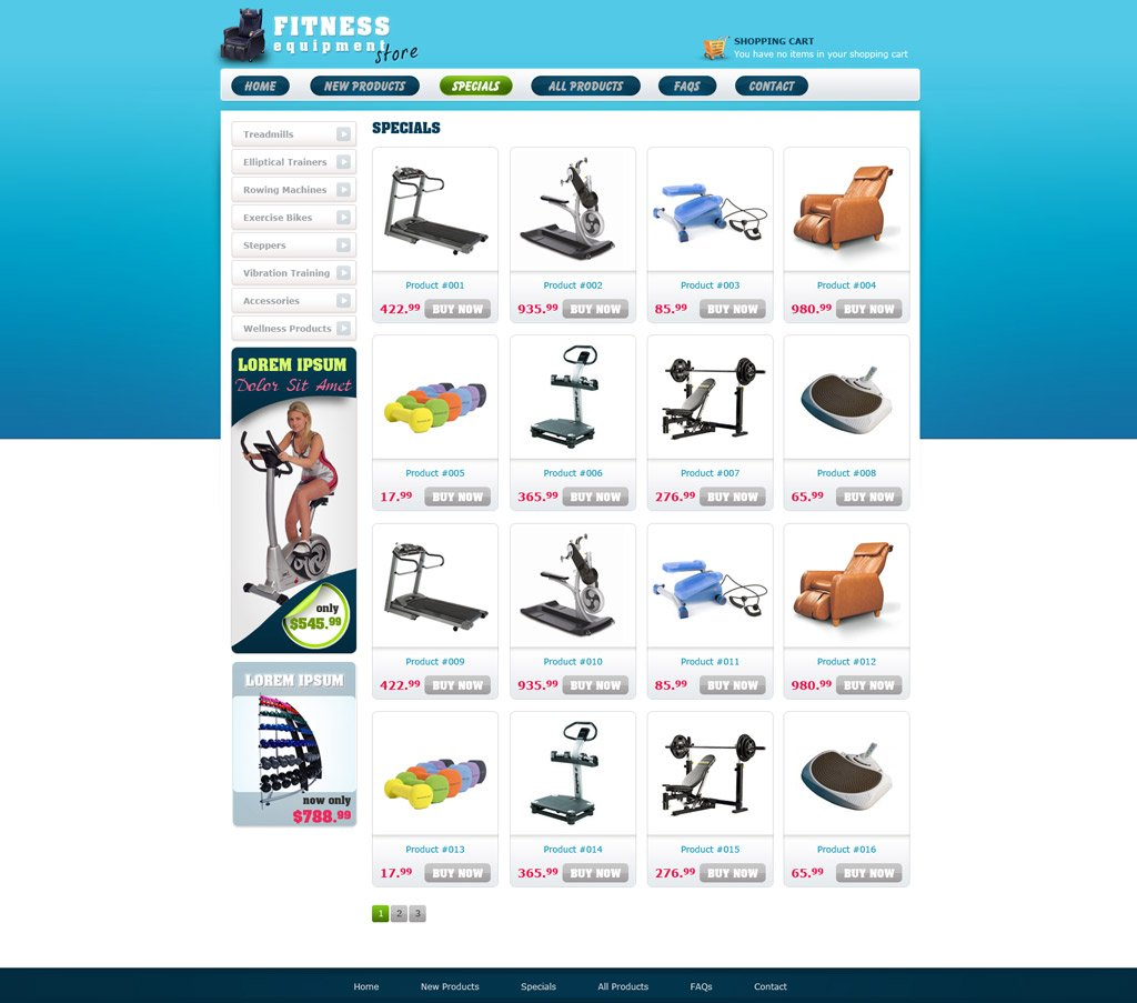 Free ecommerce website template free online store for E commerce sites templates