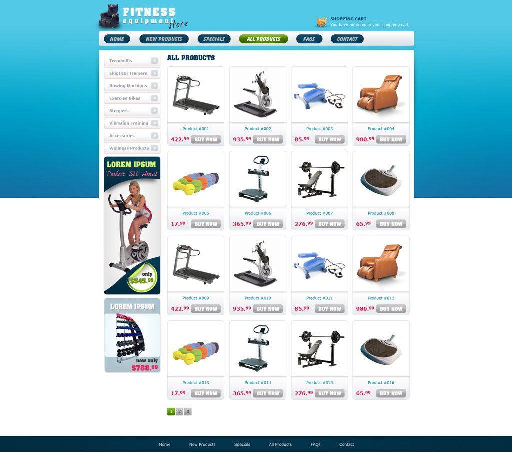 Free ECommerce Website Template Free Online Store Templates - Buy ecommerce website templates