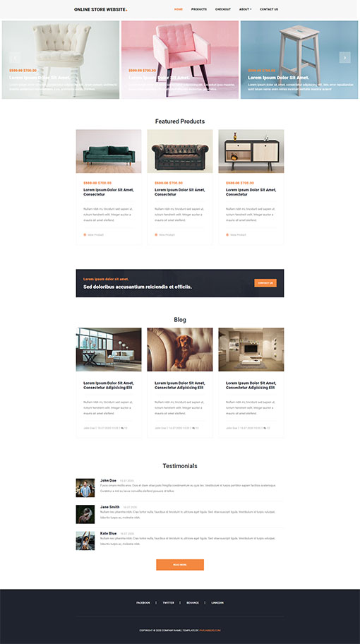 Online Store Template 102