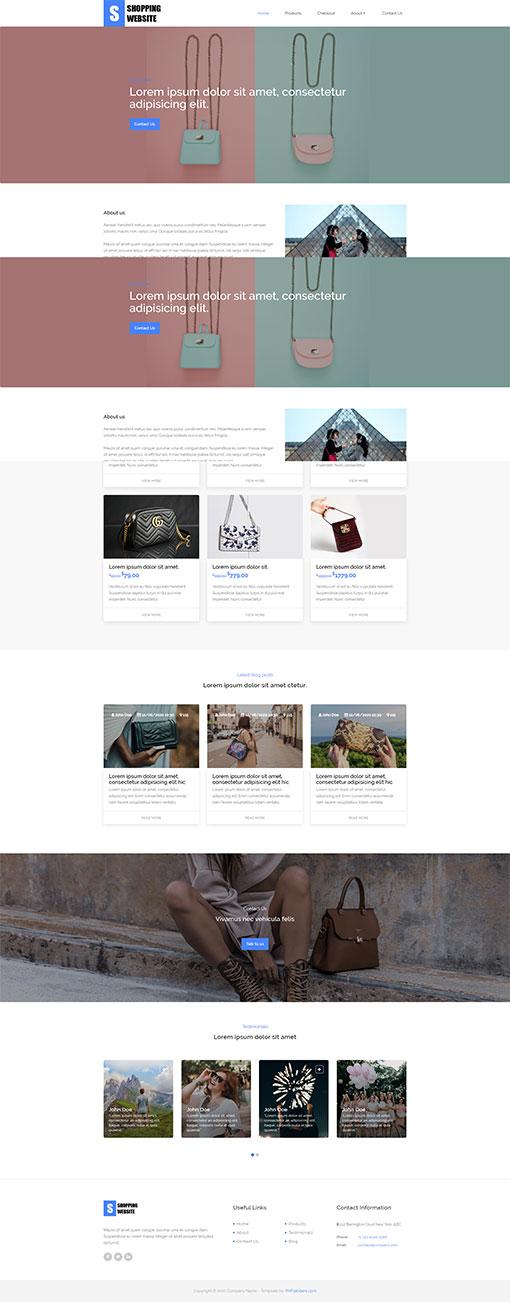 Shopping Website Template 103