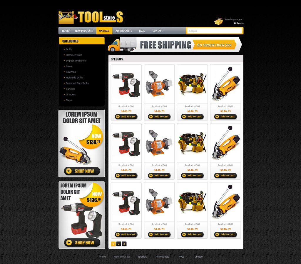 Free Online Store Website Templates: Free ECommerce Website Template