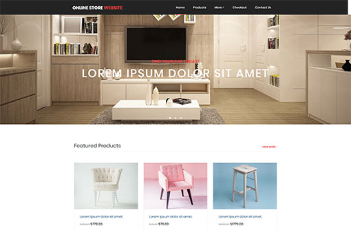 7b4935953b Free eCommerce Website Templates