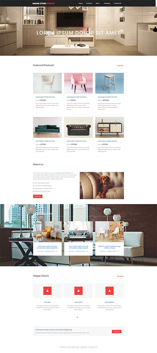 Online Store Template 105