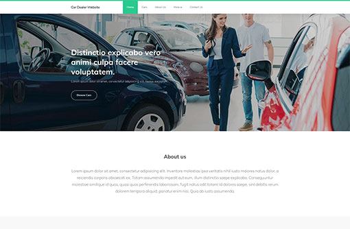 Free Car Dealer Website Templates Auto Dealer Templates