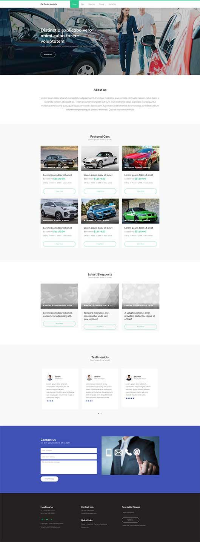 Car Dealer Website Template 107