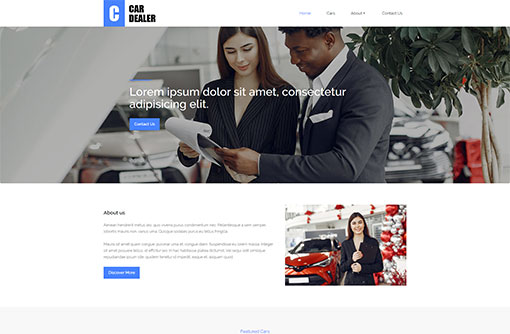 Free Car Dealer Website Templates | Auto Dealer Templates | PHPJabbers