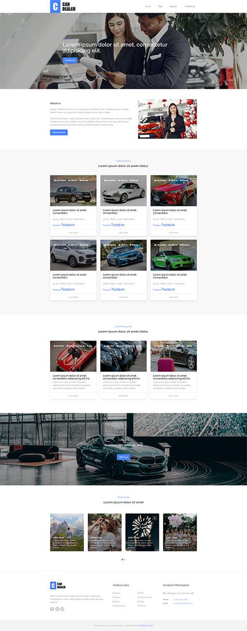 Car Dealer Website Template 108