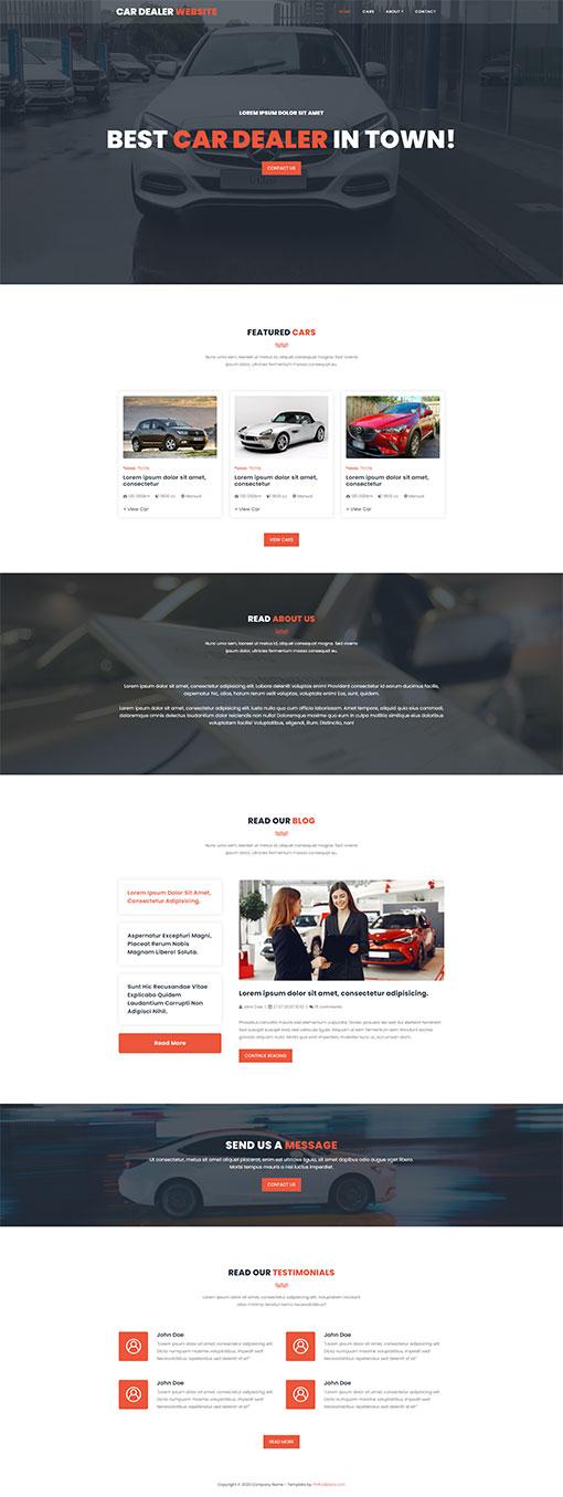 Car Dealer Website Template 109