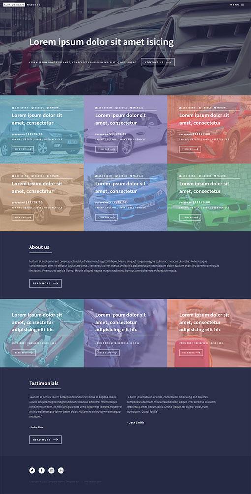 Car Dealer Website Template 110