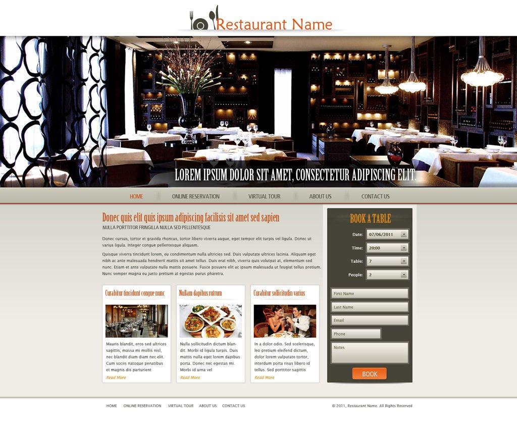 restaurant website template free restaurant web templates phpjabbers