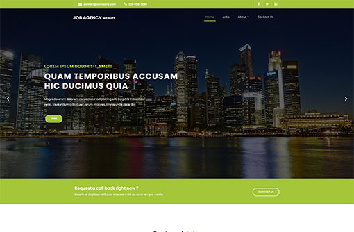 Job Seacrh Web Template
