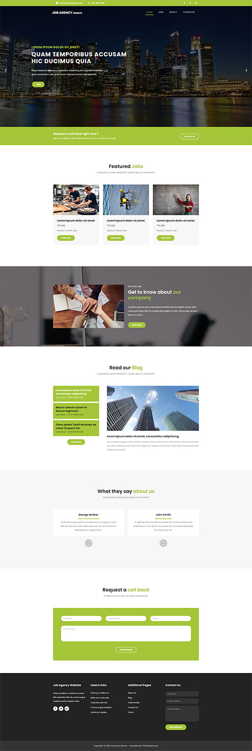Job Seacrh Web Template 131