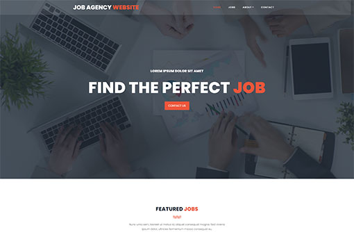 Free Job Portal Template Job Website Templates Phpjabbers