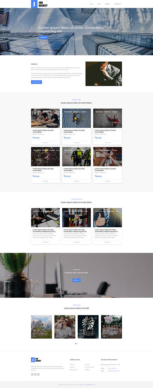 Job Portal Web Template 134