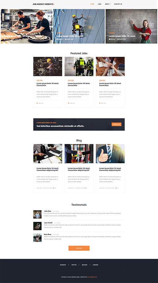 Job Website Template 137