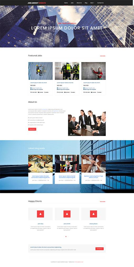 Job Website Template 138