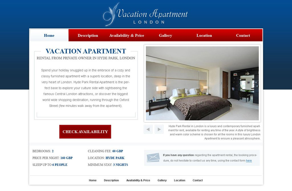 free holiday home website template 14 web templates
