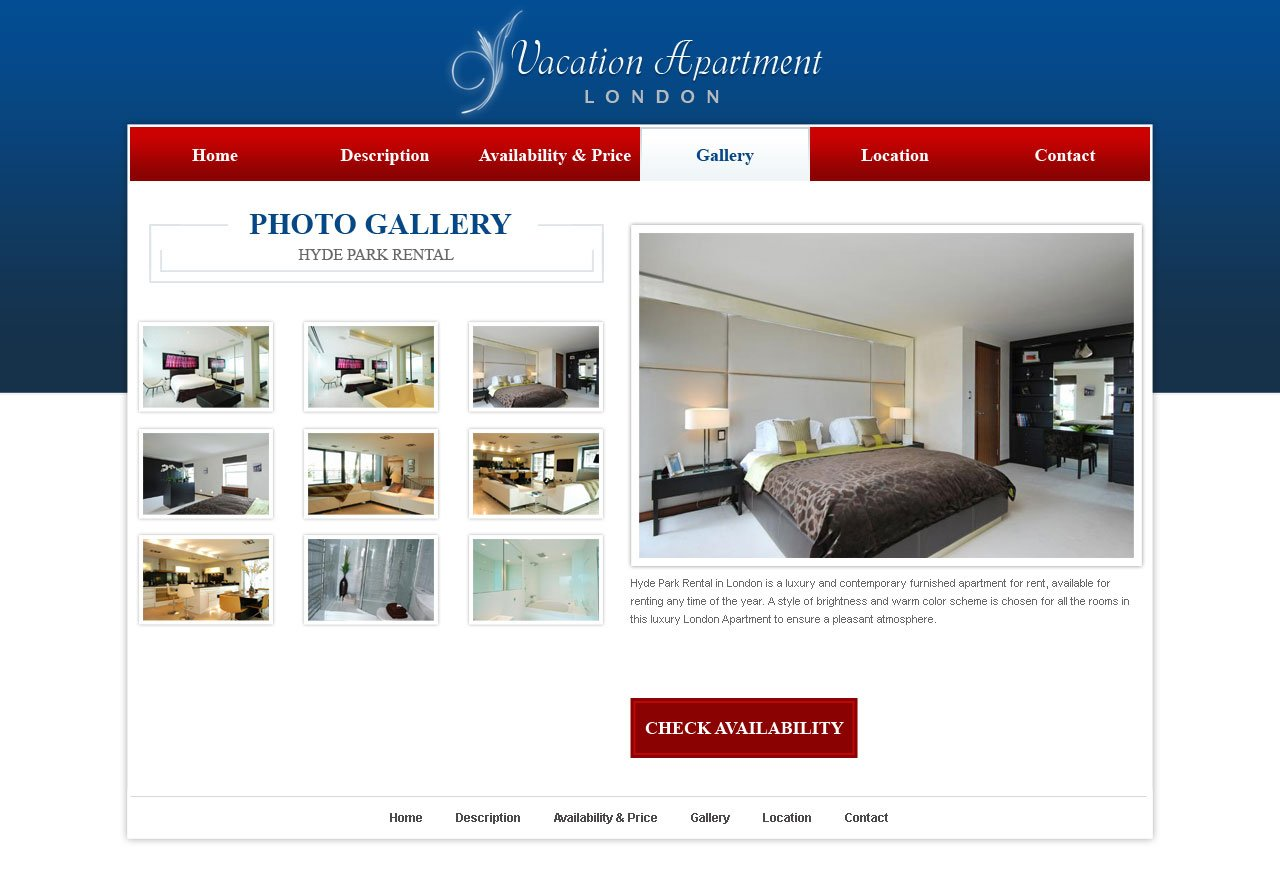 Free holiday home website template 14 web templates Website home image