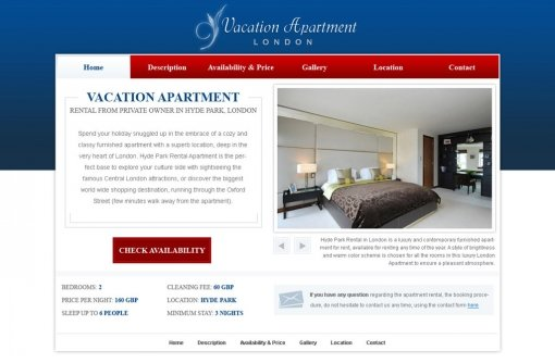 Holiday Home Website Template