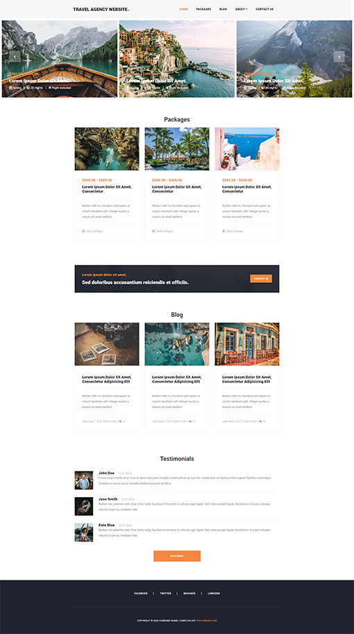 Travel Agency Web Template 140
