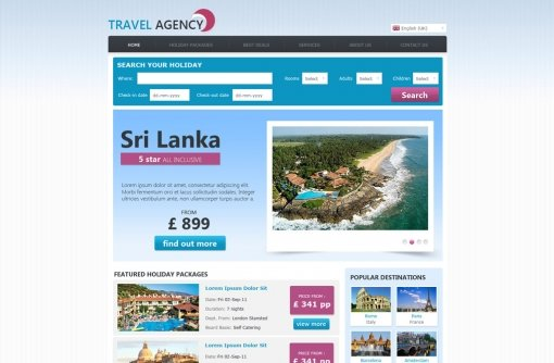 Travel Agency Web Template