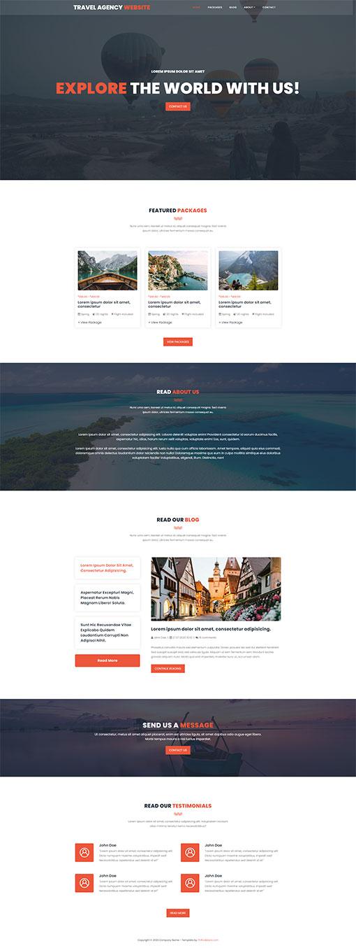 Travel Website Template 145