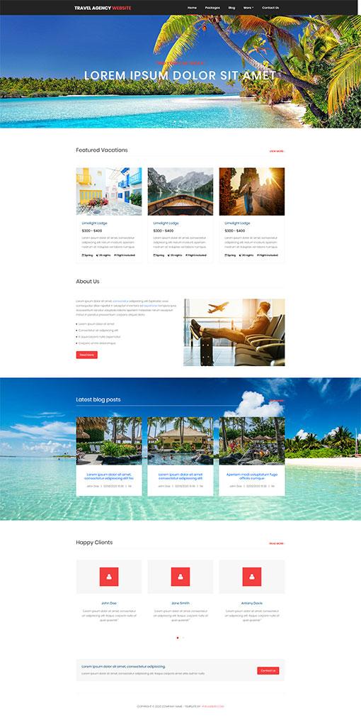 Travel Website Template 146