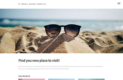 Free travel web templates travel agency web templates phpjabbers travel website template maxwellsz