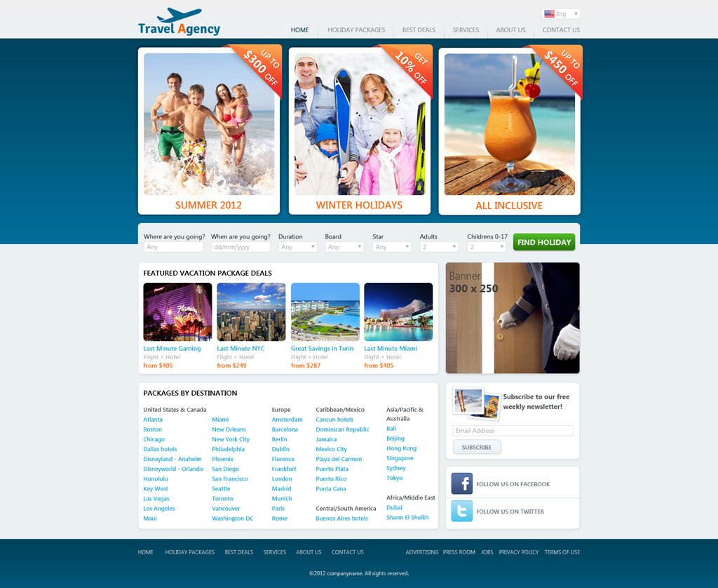 site web Adult template