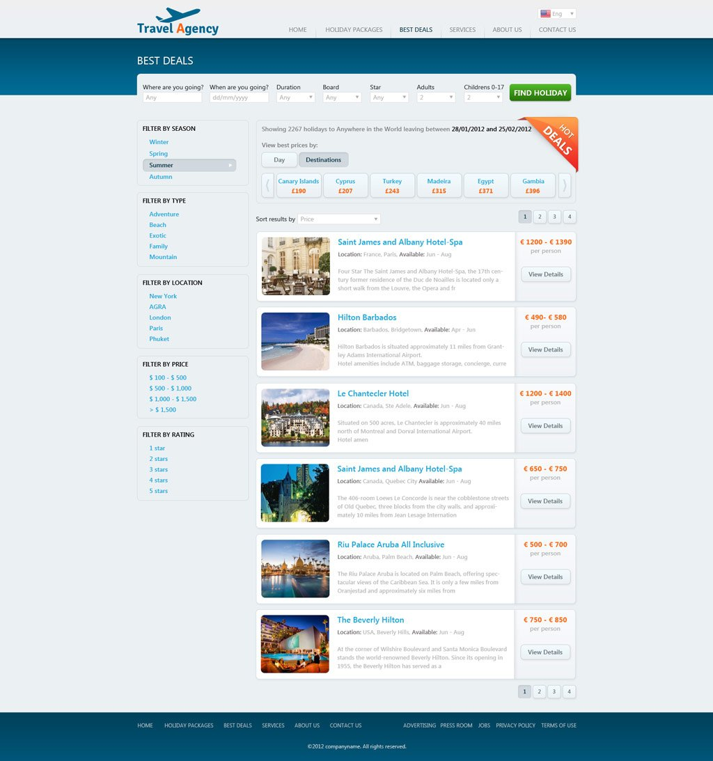 Travel Website Template – Travel Policy Template