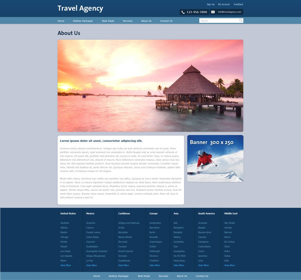 Travel Agency Proposal Template