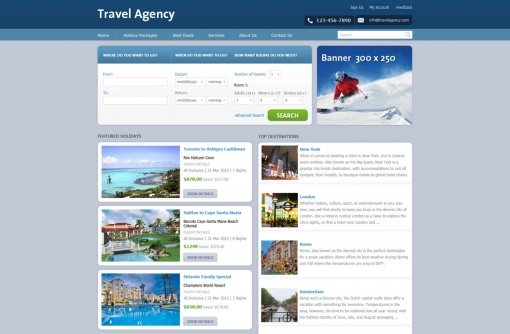 Free Travel Web Templates Travel Agency Web Templates Phpjabbers