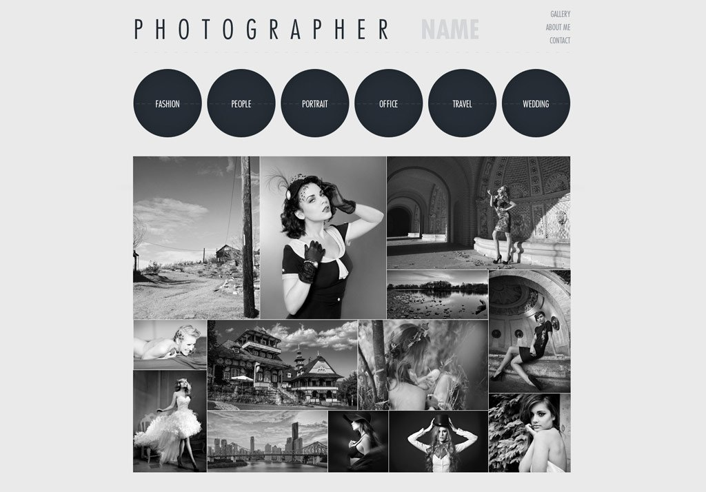website template templates photographer web phpjabbers development
