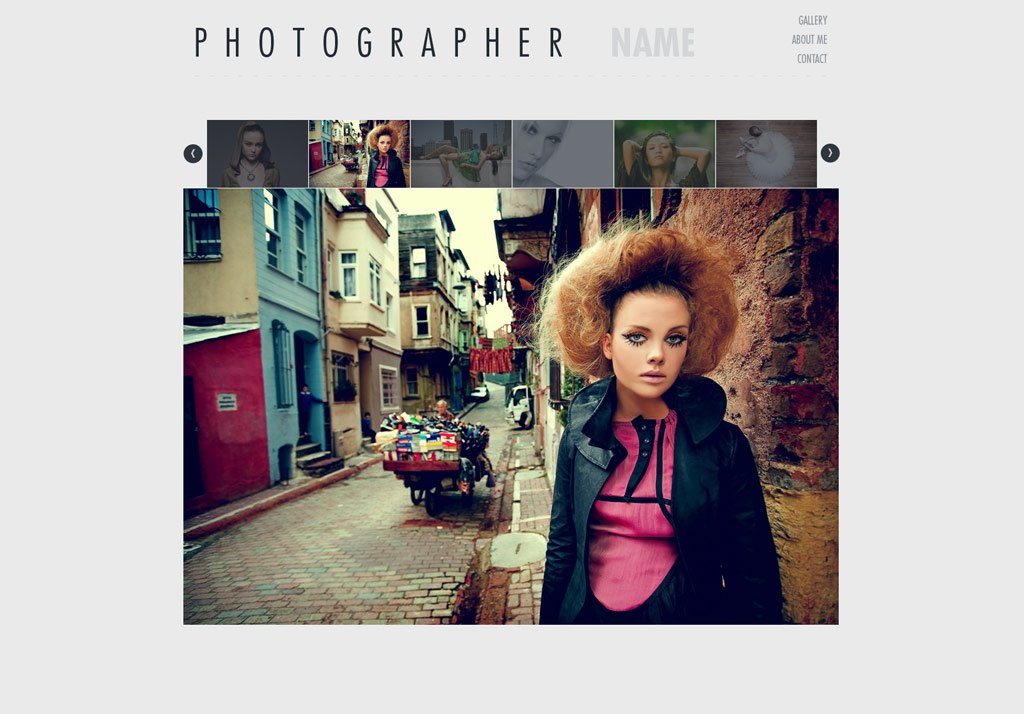 Photography Website Template | Free Photography Web Templates ...