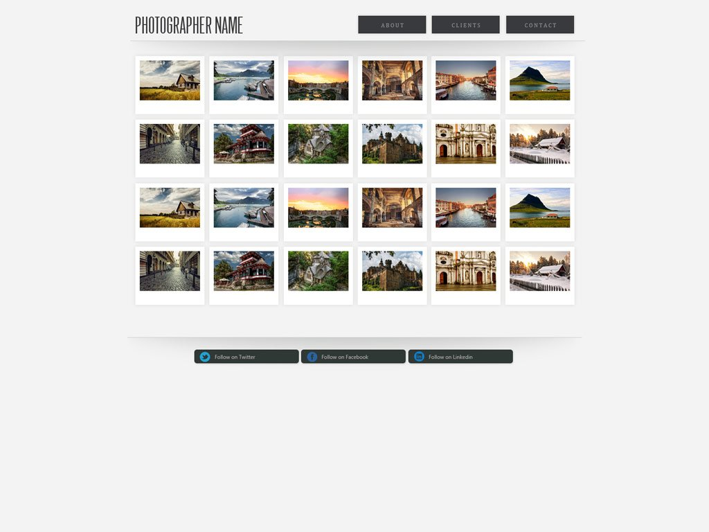 Photography Website Template Free Photography Web Templates - Free photography website templates