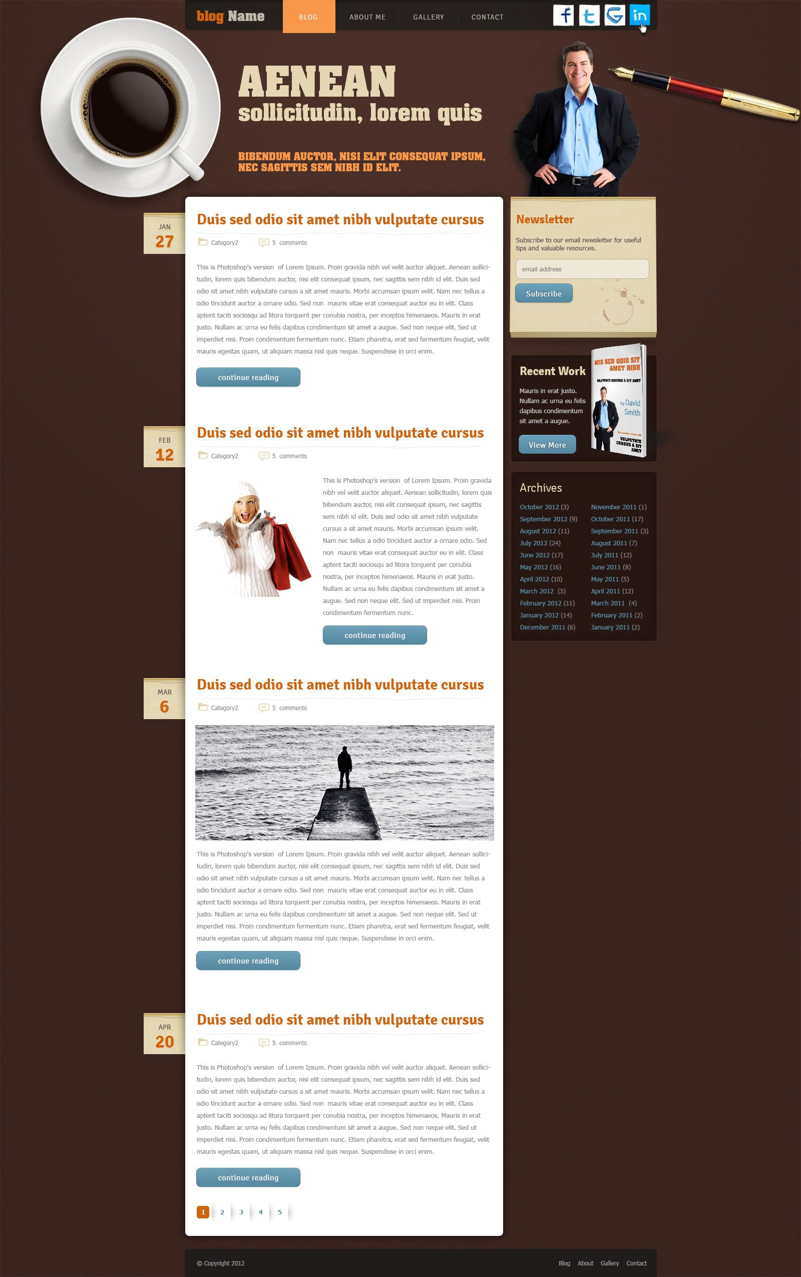 blog website template free blog template phpjabbers