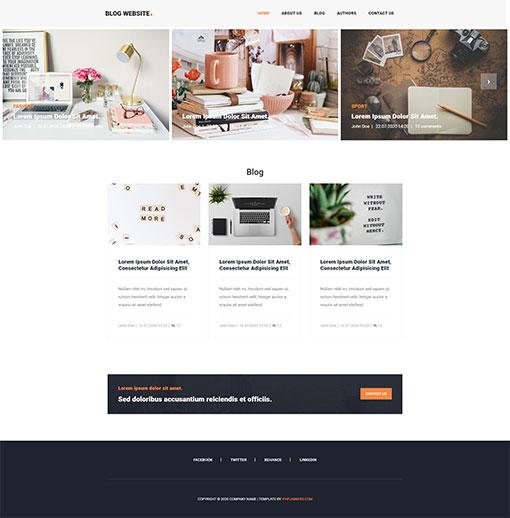 Blog Website Template 172