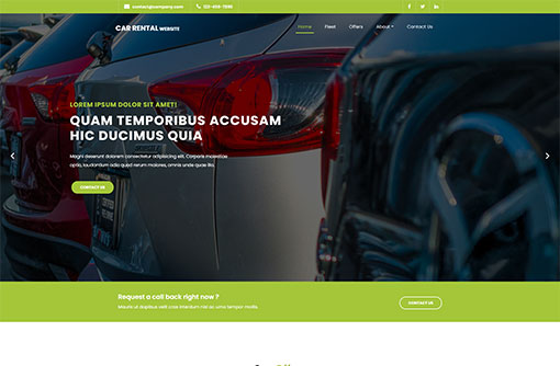 Free Car Rental Template Car Rental Website Template