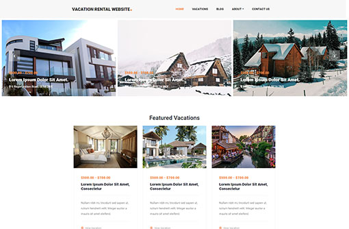 Vacation Rental Web Templates Holiday Home Templates – House for Rent Template