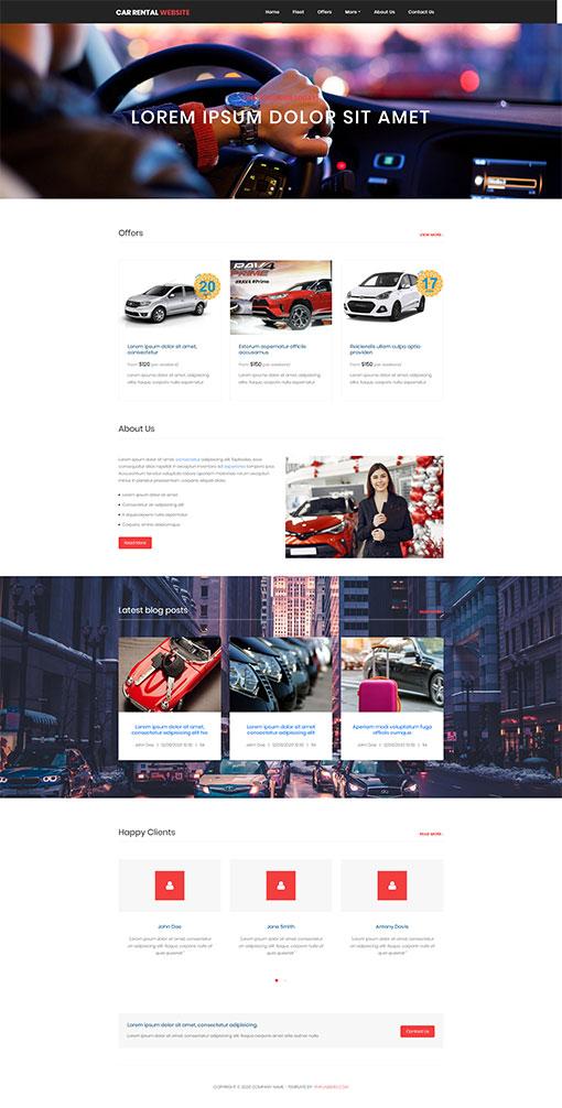 Rent a Car Website Template 181