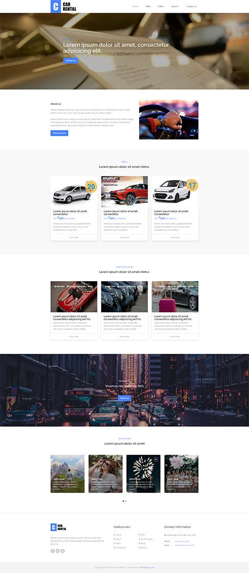 Rent a Car Website Template 182