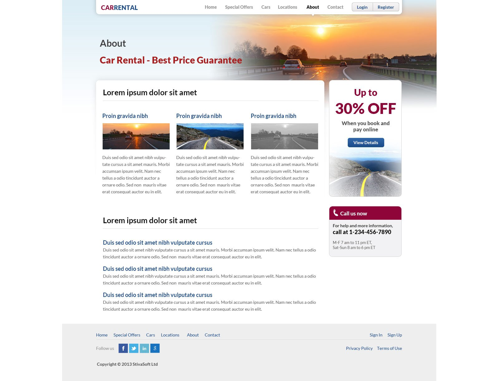 free car rental template rent a car website template phpjabbers
