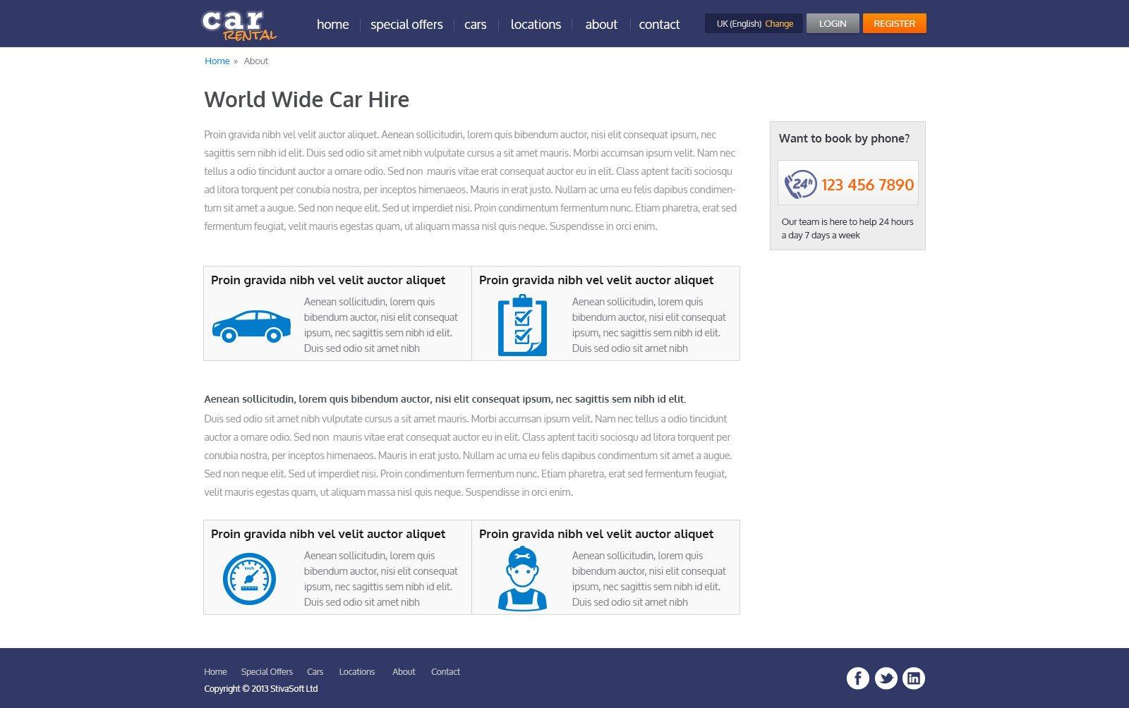 Car Rent System Free Download