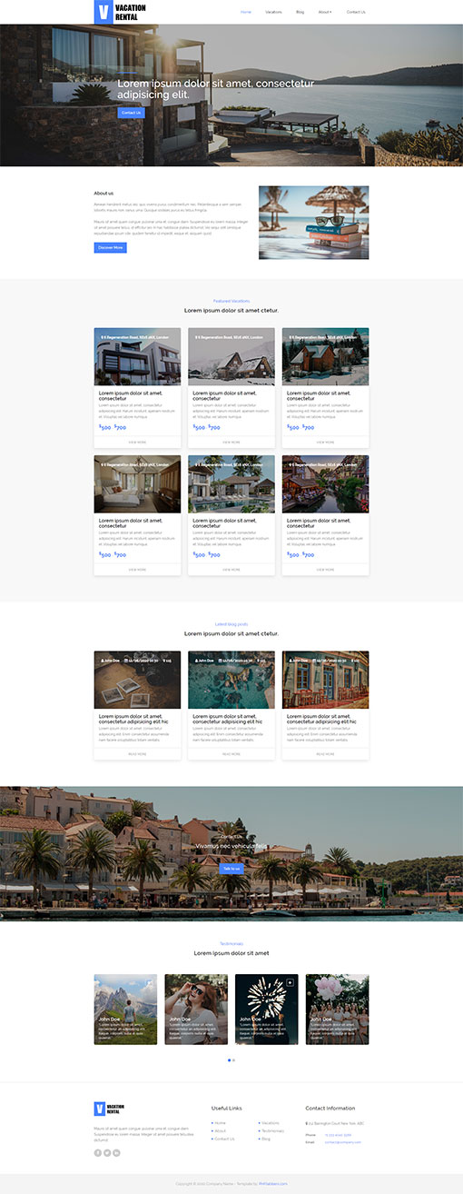 Vacation Rental Website Template 19