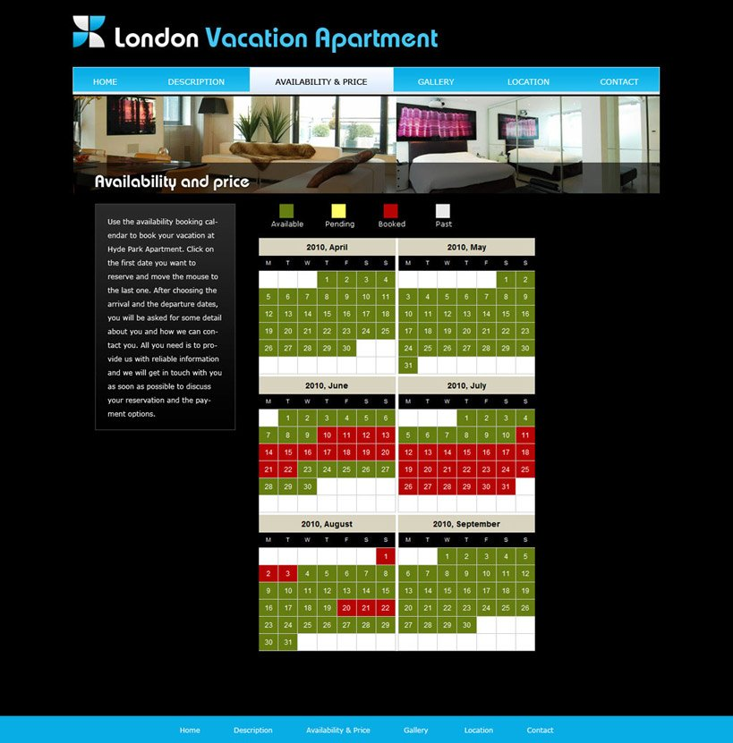 House Renting Websites: Free Vacation Home Web Template #2