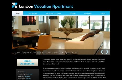 Vacation Home Website Template