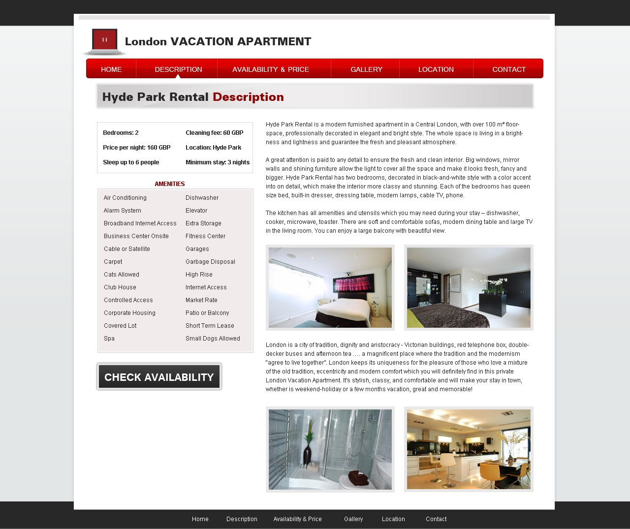 Website For Houses For Rent: Free Vacation Rental Template #20
