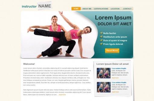 Fitness Website Template